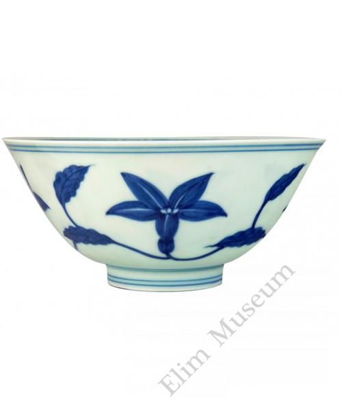 1324 A Ming Cheng-Hua B&W lily bowl