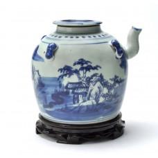 1093 A late Qing B&W teapot