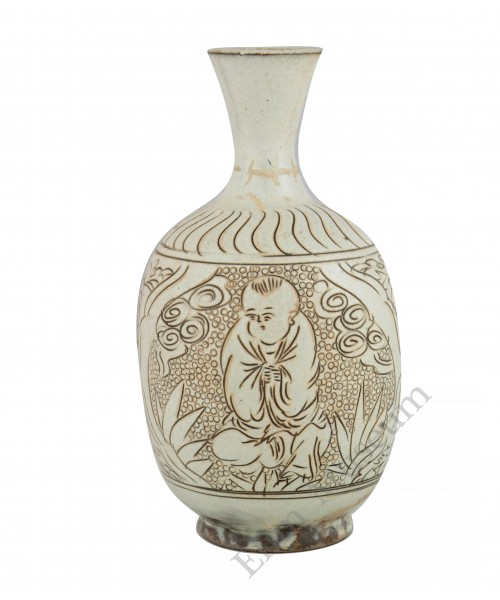 1172 A Dengfeng-Ware peal-ground vase