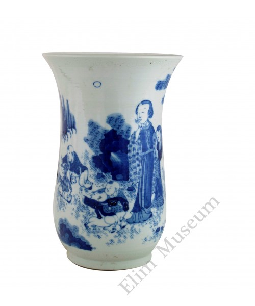 """1330 A Ming Dynasty B&W vine vessel of """"counting the dates"""""""