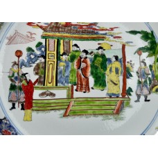 1039   A Kang-Xi Wucai court scene and figures charger