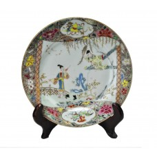 """1113 A Fengcai plate of """"The Western Chamber"""""""