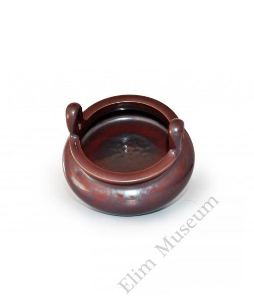 1546 A bronze-like glaze incense burner