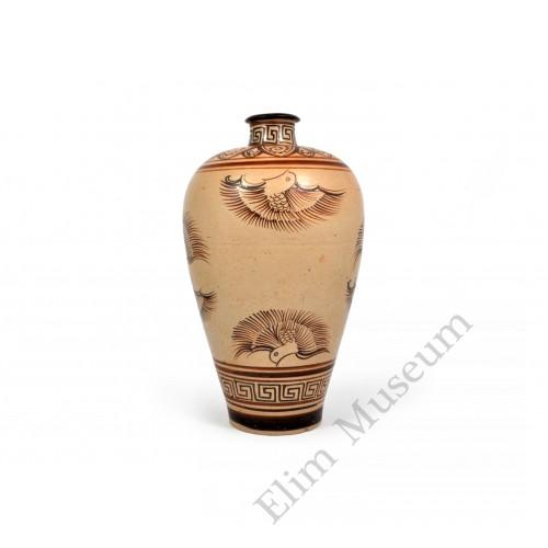 1602 A Jizhou-Ware lovebirds vase
