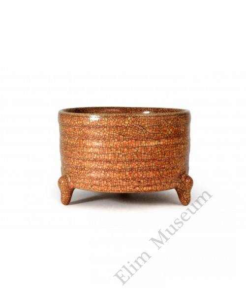 1611 A Ge-ware three foots incense burner