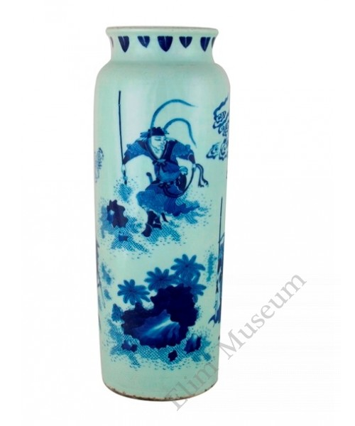 "1162  A  Chong-Zhen B&W vase Of  the ""Three Kingdoms"""