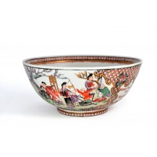 """1625 An exported Fengcai """"happy family"""" figures bowl"""
