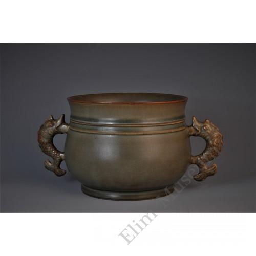 1631 A Guan-ware fish-handles incense burner