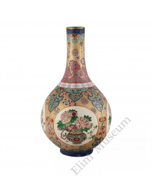1166 A Yangcai Gallbladder vase floral décor