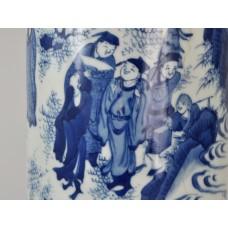 "1664 A B&W sleeve vase rolwagen with""swinging""scene"