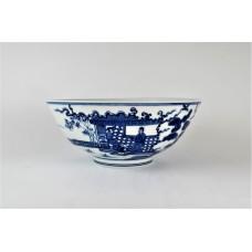 1666 A B&W court figures bowl