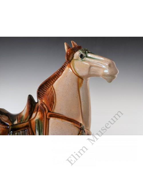1683 A Pre-Song (Tang Dynasty) white glaze Sancai horse
