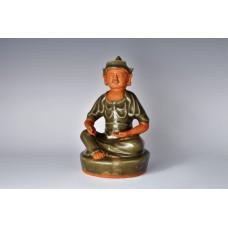 1728  A Long-quan celadon glaze stoneware  Mongolian warrior sculpture