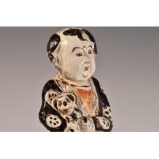 1744 Yuan Dynasty Ci-zhou ware boy holding a puppy