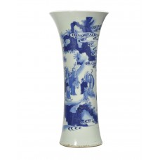 1192 A  B&W vase with Daoist deity figures