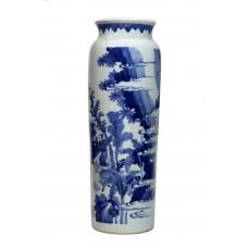 "1207 Ming B&W ""good news"" rolwagen vase"