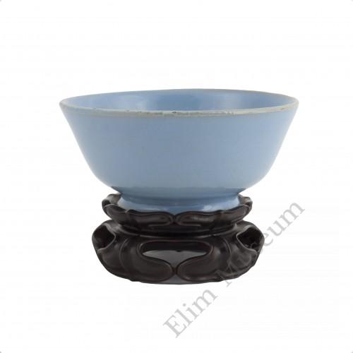 1238  Song Dynasty Ru-Ware blue glaze bowl