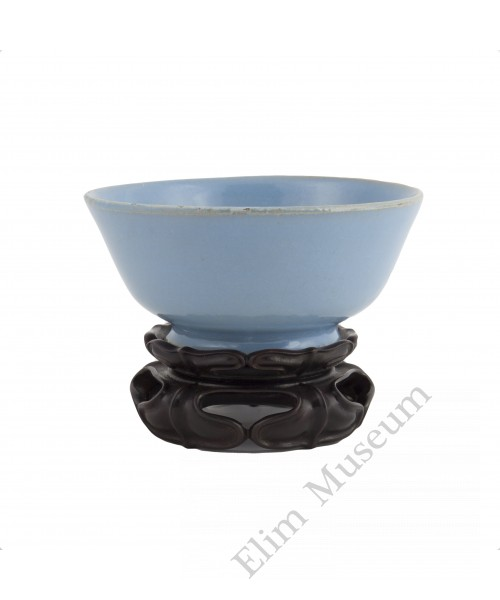 1238  Song Dynasty Ru-Ware blue glaze bowl