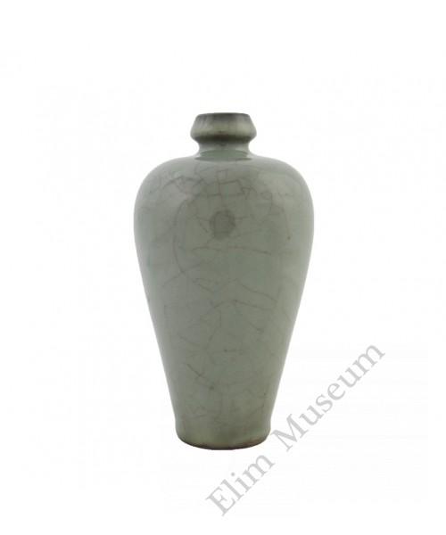 1246 A Song Dynasty Guan-Ware grey green mei-ping