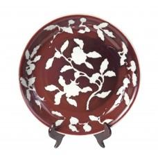 1251 Ming Xuan-De period red glaze white ground vase