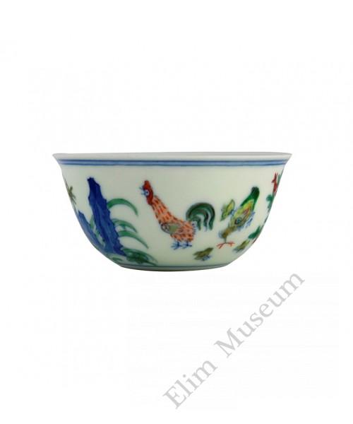 1309 (1)  Ming Chenghua Doucai chicken cup