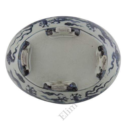 1320 A Ming Xuan-De period B&W duck shape soup tureen