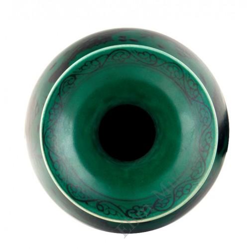 1342 Ming Xuan-De period green glaze B&W Yuhuchun vase