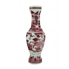 1347 A underglaze red Octagonal Qilin vase