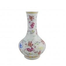 1037   A Jia-Qing  auspicious symbols  fencai  vase