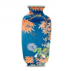 1054  A Qian-Long Yangcai birds-flowers lantern vase