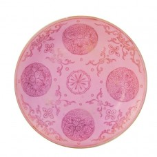 1081  A Qianlong carmine-red glaze small dish