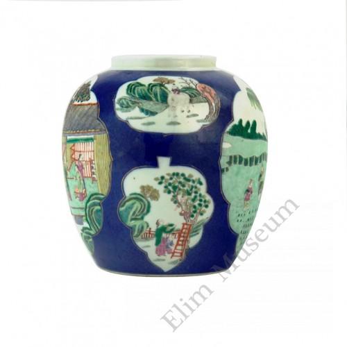 "1092 A  Fengcai jar of ""farming and weaving""."