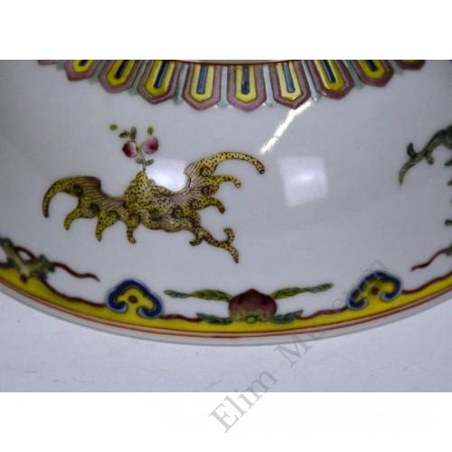 1094 A fengcai auspicious bat and flowers pattern