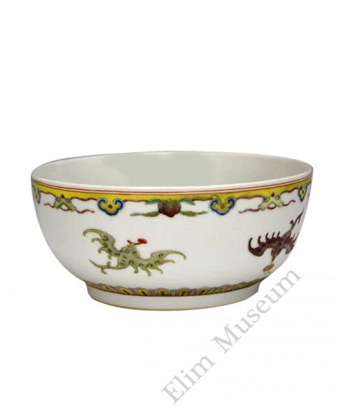 1094 A fengcai auspicious bat and flowers pattern