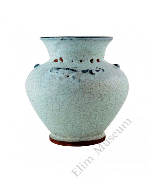 1095 A Song dynasty Jun-Ware milky glaze pot