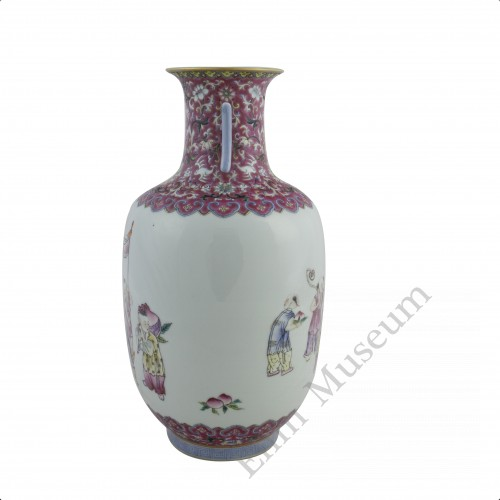1249   A Jia-Qing Fencai Vase with Playing children